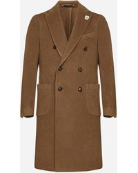 Lardini Cashmere Double-breasted Coat - Multicolour