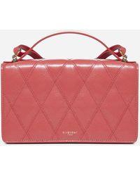 Givenchy Borsa GV3 Mini in pelle trapuntata - Rosso