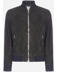 Officine Generale - Bomber Todd in pelle scamosciata - Lyst