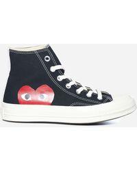 COMME DES GARÇONS PLAY Sneakers alte Converse Play - Nero