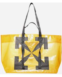 Off-White c/o Virgil Abloh Arrows-logo Technical Fabric Tote Bag - Yellow