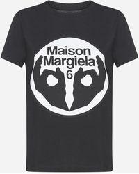 MM6 by Maison Martin Margiela Logo Print T-shirt - Black