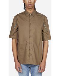Neil Barrett Camicia in cotone con zip - Multicolore