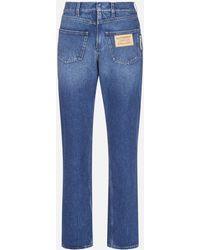 Burberry Deconstructed Denim Jeans - Blue