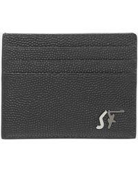 Ferragamo Monogram Leather Card Holder - Black