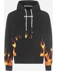 Palm Angels Fire Hoody - Black