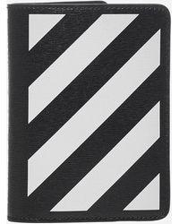 Off-White c/o Virgil Abloh Diag Leather Passport Holder - Black