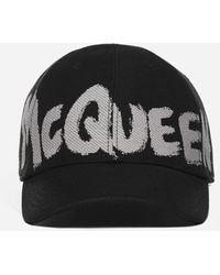 Alexander McQueen Logo Cotton Baseball Cap - Black