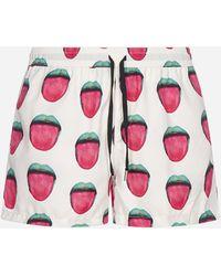 NOS Beachwear Printed Swim Shorts - Multicolour
