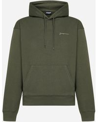 Jacquemus Brode' Cotton Hoodie - Green