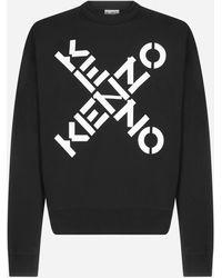 KENZO Logo Cotton Sweatshirt - Black