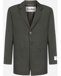 Etudes Studio Earth Wool Blazer - Green