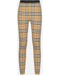Burberry Belvoir Vintage Check Leggings - Multicolor