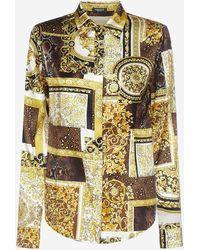 Versace Barocco Print Silk Shirt - Multicolor