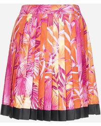 Versace Jungle Print Pleated Miniskirt - Multicolour