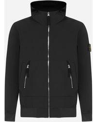 Stone Island Technical Fabric Hooded Jacket - Black
