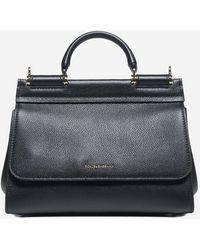 Dolce & Gabbana Sicily Soft Medium Calfskin Bag - Black