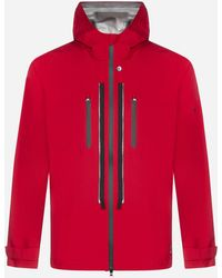 Stone Island Shadow Project Technical Fabric Hooded Jacket - Red