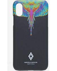 Marcelo Burlon Fluo Wings Xs Case - Blue