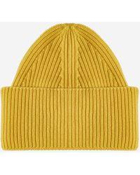 Laneus Wool And Angora Beanie - Yellow