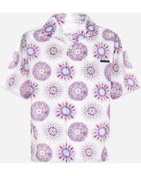Prada Camicia in cotone con stampa - Multicolore