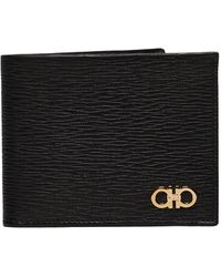 Ferragamo Gancini Wallets - Black