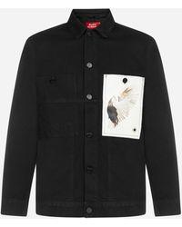 Etudes Studio Guest Print Denim Jacket - Black