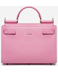 Dolce & Gabbana Sicily 62 Small Leather Bag - Pink