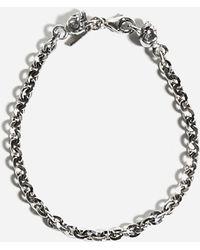 Emanuele Bicocchi Bracciale a catenella in argento con teschi - Metallizzato