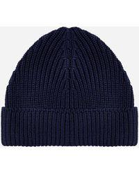Drumohr Merino Wool Beanie - Blue