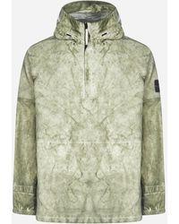 Stone Island Printed Hooded Jacket - Green