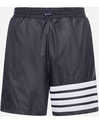 Thom Browne Shorts da mare 4-Bar - Blu