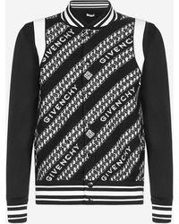 Givenchy Logo-chain Motif Wool Bomber Jacket - Black