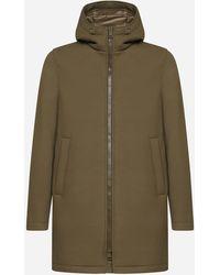 Herno Scuba Fabric Hooded Jacket - Green