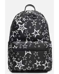 Dolce & Gabbana Mixed Star Print Vulcano Backpack In Nylon - Black