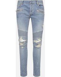 Balmain Jeans slim-fit effetto vissuto - Blu