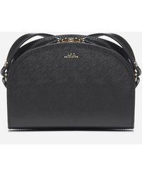 A.P.C. Demi Lune Mini Saffiano Leather Mini Bag - Black