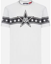 Dolce & Gabbana Dg Star Logo T-shirt - White