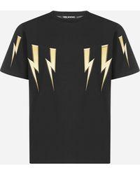 Neil Barrett Bolt Cotton T-shirt - Black