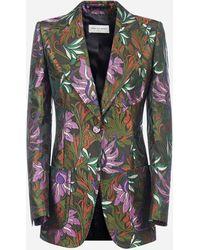 Dries Van Noten Blazer Beiley Bis in jacquard floreale - Multicolore
