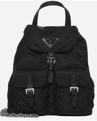 Prada Re-nylon Mini Backpack - Black