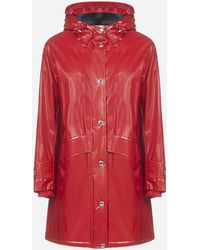 Burberry Horseferry Print Coated Jersey Parka - Red