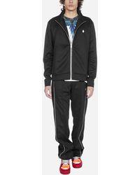 Marcelo Burlon Cross Blend-cotton Zip Track Suit - Black