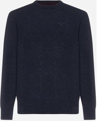 Barbour Pull Tisbury in lana - Blu