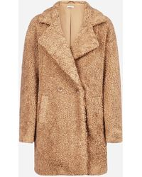P.A.R.O.S.H. Postit Faux-shearling Coat - Multicolor