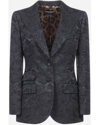 Dolce & Gabbana Floral Brocade Blazer - Multicolour