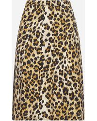 Moschino Animalier Print Viscose Skirt - Multicolor
