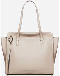 Ferragamo Amy Leather Tote Bag - Natural