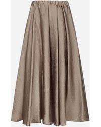 Blanca Vita Gelso Pleated Midi Skirt - Brown