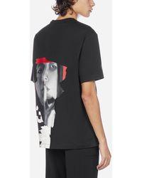 Y-3 Logo And Print Cotton T-shirt - Black